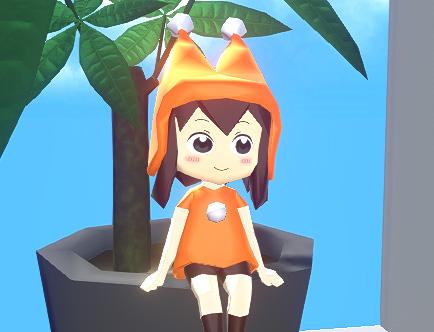 ローポリの3Dキャラクターに簡単な表情をつけてみるテスト